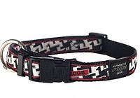 Ошейник для собак фенси принт, черно-белый, ROGZ XL, 43-70 см