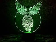 """3D лампа """"Хрустальный череп"""" 3DTOYSLAMP"""