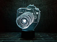 "3d светильник ""Фотоаппарат"" 3DTOYSLAMP"