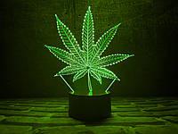 "3d светильник ""Листок"" 3DTOYSLAMP, фото 1"