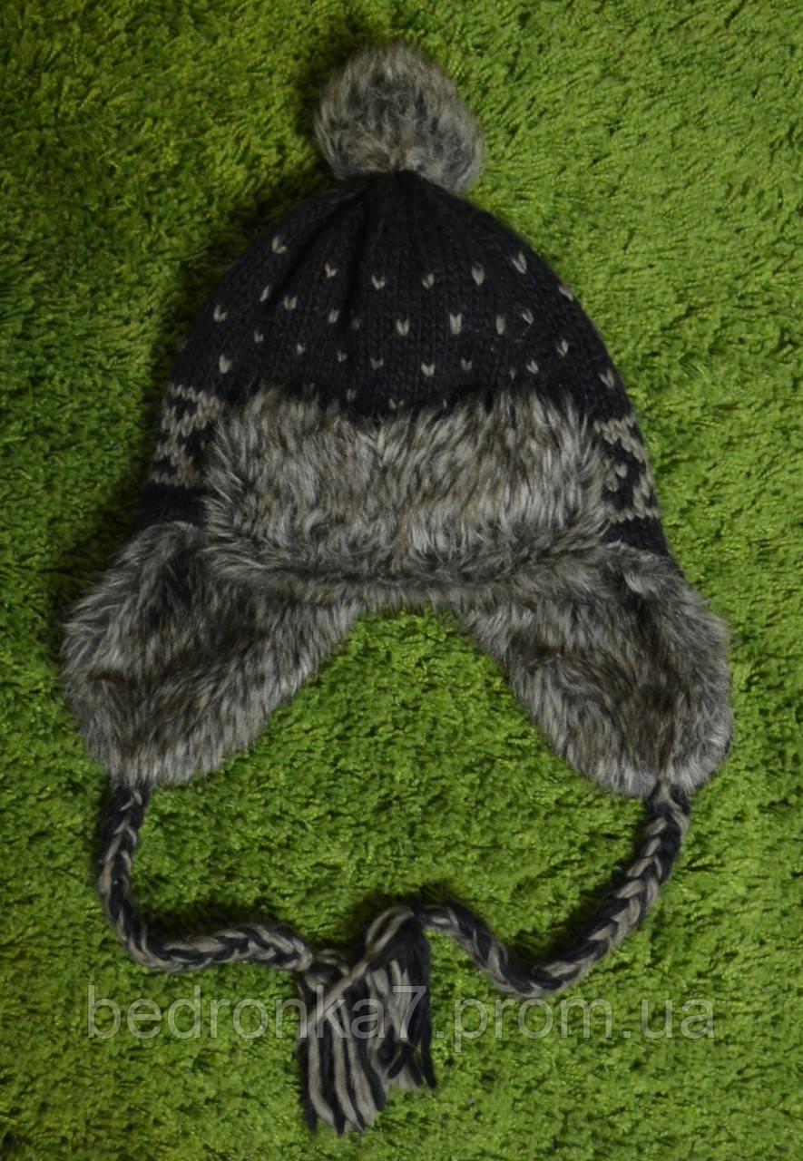 Зимова тепла шапка вушанка. стан + - Магазин б у речей