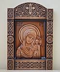 """Ікона Казанська Божа Матір у кіоті """"Б"""" (240х355х36)"""