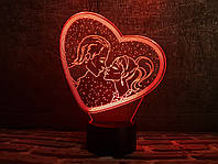 """3D светильник """"Влюбленные"""" 3DTOYSLAMP"""