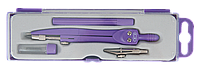 Готовальня neon basis 4 предмета, фиолетовый zb.5322nn-07