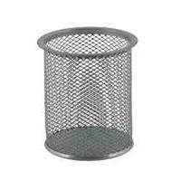Подставка для ручек круглая, металлическая, серебристый bm.6202-24