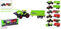 Трактор металл 7804  Наш Автопром 8 видов в коробке 21*7, 5*5, 5 см.