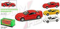 Машины металлические 7703   Наш Автопром   Maserati , 3 цвета, открываются двери,  в кор.16*7*7 см.