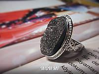 Женское кольцо модное стильное ретро винтаж серебро
