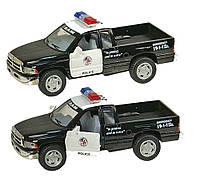 Машина металлическая KINSMART KT5018WP Полиция Dodge Ram  в коробке 16*8*7см
