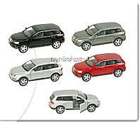 Машина металлическая KINSMART KT5078W Volkswagen Touareg (2003) в кор. 16*8,5*7,5см