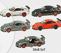 Машина металлическая KINSMART KT5352W (96шт/4)2010 Porsche 911 GT3 RS в кор. 16*8,5*7,5см