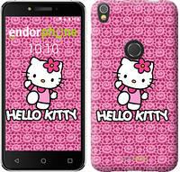 "Чехол на iPhone X Hello kitty. Pink lace ""680c-1050-493"""