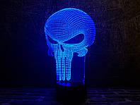 "3D лампа ""Каратель"" 3DTOYSLAMP, фото 1"