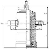 Гідроциліндр телескопічний з отвором 4-шт TC4044F, фото 2