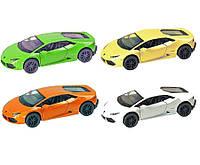 Машина металлическая KINSMART KT5382W Lamborghini Huracan LP610-4 в кор. 16*8,5*7см
