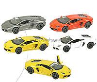 Машина металлическая KINSMART KT5355W (96шт/4) Lamborghini Aventador LP700-4, в коробке 16*8*7,5см