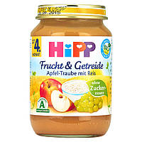 HiPP Фрукты и Зерновые: яблоко-виноград с рисом 190 г, с 4-го мес.