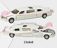 Машина металлическая KINSMART KT7001WW (72шт/6) Love Limousine, в коробке 23*8*8см