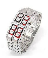 Часы LED Iron Samurai silver-red