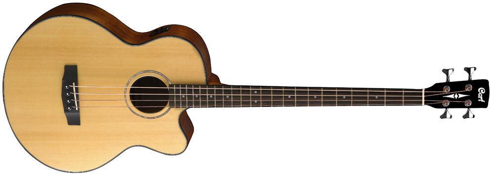 Акустическая бас-гитара CORT AB850F (NAT) w/bag