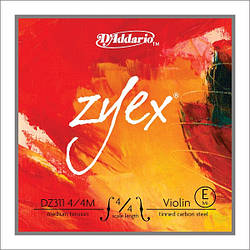 Струна Е для скрипки D`ADDARIO DZ311 4/4M ZYEX E 4/4M