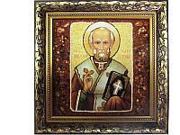 Картина из янтаря Николай (Картины и иконы из янтаря)