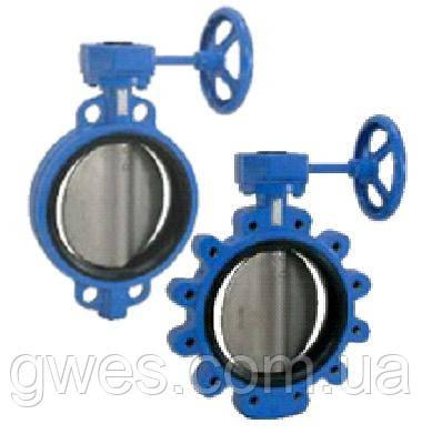 Затворы дисковые поворотные (тип баттерфляй) межфланцевые DN 600, 800, 1000, 1200 Pn10, 16, 25