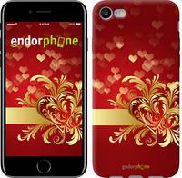 "Чехол на iPhone 7 Ажурные сердца ""734c-336-493"""