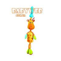 Подвеска для дуги  Малыш Жирафик  с прищепкой и звоночком Tiny Love
