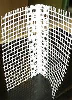 Угол пластиковый шпатлевочный с сеткой Эконом 3,0м Браво 1/50/100