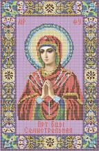 Схема для вишивки бісером «Пресвята Богородиця Семистрельная»