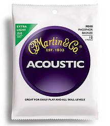 Струни для гітари MARTIN M500 Traditional Acoustic 92/8 Phosphor Bronze Extra Light 12-String (10-47)