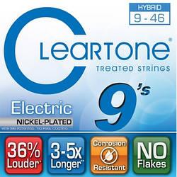 Струни з покриттям для електрогітари CLEARTONE 9419 ELECTRIC NICKEL-PLATED HYBRID 09-46