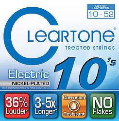 Струни з покриттям для електрогітари CLEARTONE 9420 ELECTRIC NICKEL-PLATED HEAVY BOTTOM 10-52
