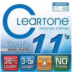 Струни з покриттям для електрогітари CLEARTONE 9411 ELECTRIC NICKEL-PLATED MEDIUM 11-48