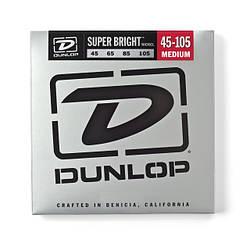 Струни для басгітари DUNLOP DBSBN45105 SUPER BRIGHT NICKEL 45-105