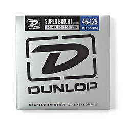 Струни для басгітари DUNLOP DBSBN45125 SUPER BRIGHT NICKEL 45-125