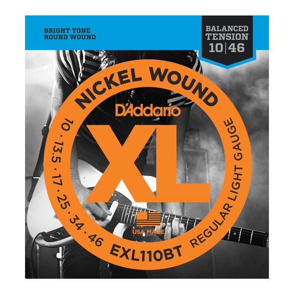 Струны D`ADDARIO EXL110BT XL NICKEL BALANCED TENSION, REGULAR LIGHT (10-46)