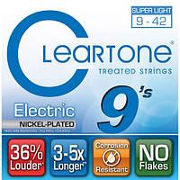 Струны для электрогитары с покрытием CLEARTONE 9409 ELECTRIC NICKEL-PLATED SUPER LIGHT 09-42
