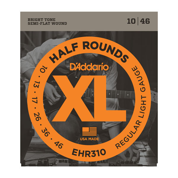 Струны D`ADDARIO EHR310 XL HALF ROUNDS REGULAR LIGHT 10-46