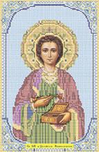 Схема для вышивки бисером «Святой Пантелеймон-целитель»
