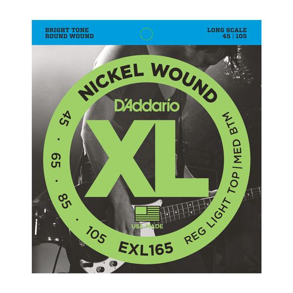 Струны D`ADDARIO EXL165 XL REG LIGHT TOP /  MED BOTTOM 45-105