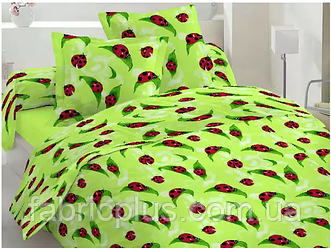 Бязь набивная диз: lady bird (green)