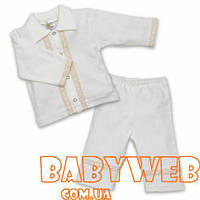 Одежда для крещения велюровый костюм для мальчика Святослав