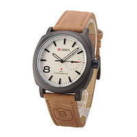 Мужские часы наручные Curren Chronometer GMT-8 Белый