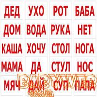 Набор карточек для детей «Чтение по ДОМАНУ 20 слов», ТМ Вундеркинд с пеленок