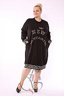 Женское турецкое платье с аппликацией, DARKWIN (Турция) 50-62 рр