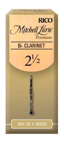 Трости для духовых RICO Mitchell Lurie Premium - Bb Clarinet #2.5