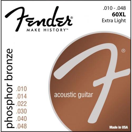 Струны акустической гитары FENDER 60XL