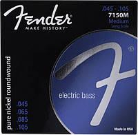 Струны для бас-гитары, никель, разм FENDER 7150XL ORIGINAL PURE NICKEL ROUNDWOUND
